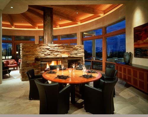 Residential lighting design and layout in a spectacular home.